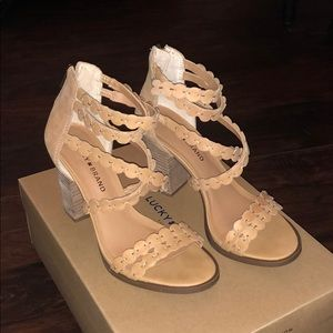 Lucky Brand like new strappy heels